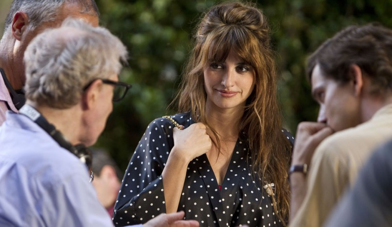Penelope Cruz filming scenes of Bop Decameron in Rome