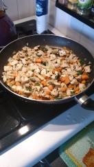 La farce en cuisson